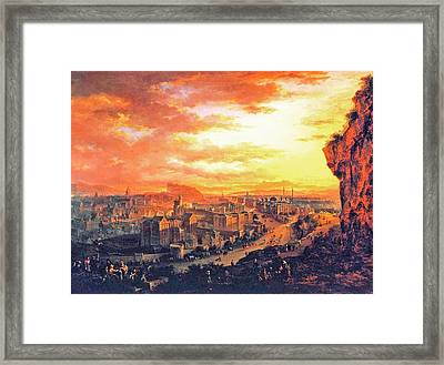 Edinburgh From Calton Hill Framed Print by Celestial Images
