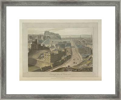 Edinburgh From The Carlton Hill Framed Print by British Library