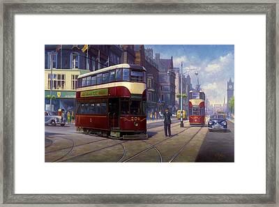 Edinburgh Tram 1953. Framed Print by Mike  Jeffries