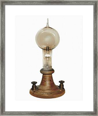 Edison, Thomas Alva 1847-1931. Carbon Framed Print by Everett