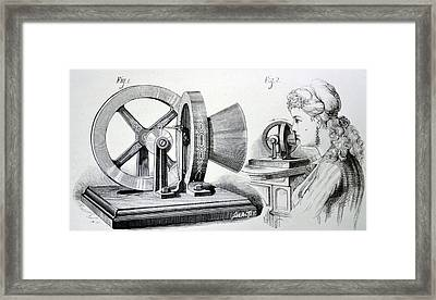 Edison's Phonometer Framed Print by Universal History Archive/uig