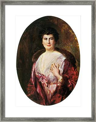 Edith Wilson, First Lady Framed Print by Science Source