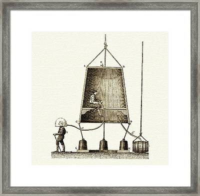 Edmund Halley's Diving Bell Framed Print by Sheila Terry