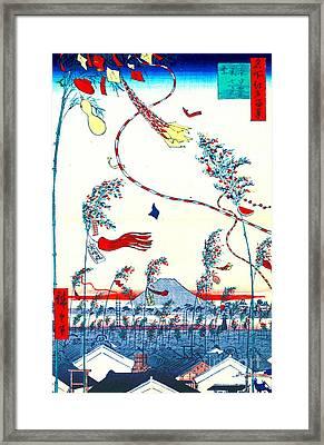 Edo Tanabata Festival 1857 Framed Print by Padre Art