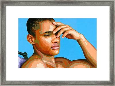 Eduardo Na Luz Framed Print by Douglas Simonson