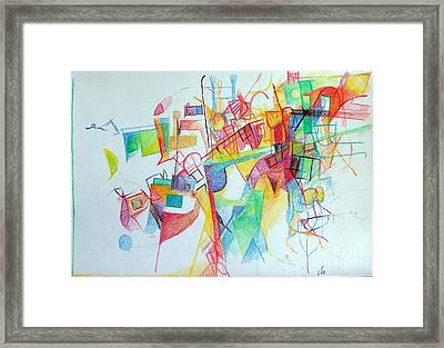 Education 3 Framed Print by David Baruch Wolk