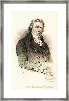 Edward Jenner Framed Print by National Library Of Medicine