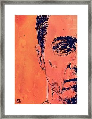 Edward Norton Fight Club Framed Print by Giuseppe Cristiano
