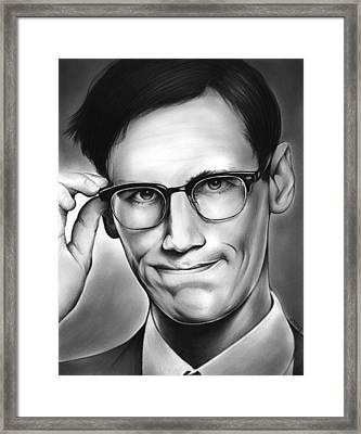 Edward Nygma Framed Print by Greg Joens