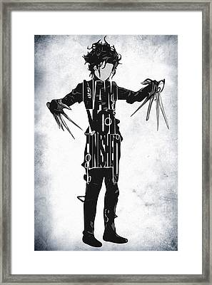Edward Scissorhands - Johnny Depp Framed Print by Ayse Deniz