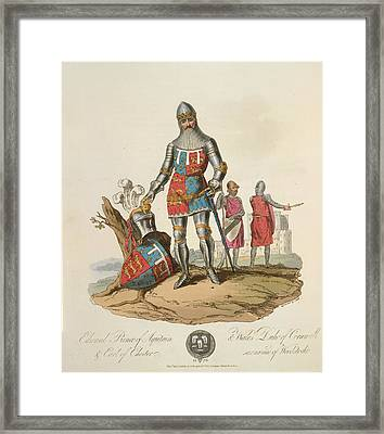 Edward The Black Prince Framed Print by British Library
