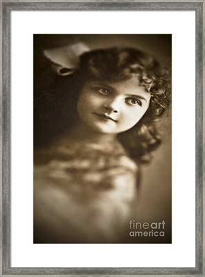 Edwardian Young Girl Framed Print by Jan Bickerton