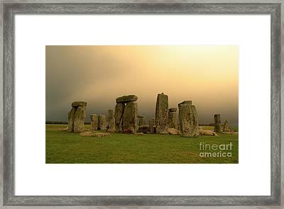 Eerie Stonehenge Framed Print by Deborah Smolinske