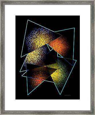 Effects Triangles Framed Print by Mario Perez