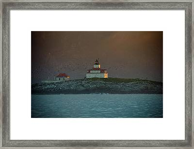 Egg Rock Island Lighthouse Framed Print by Sebastian Musial