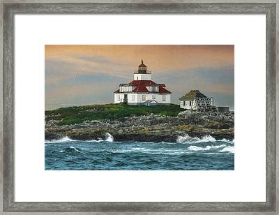 Egg Rock Lighthouse Framed Print by Lori Deiter