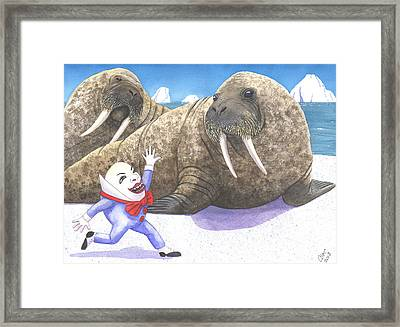 Eggman Framed Print by Catherine G McElroy
