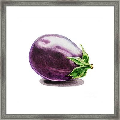 Eggplant  Framed Print by Irina Sztukowski