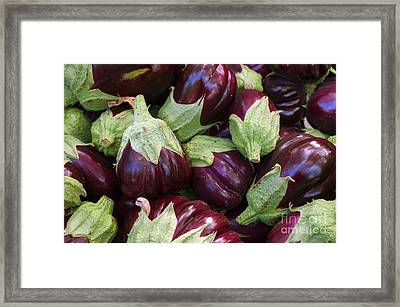 Eggplants Framed Print by Carlos Caetano
