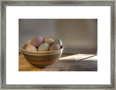 Eat Free Framed Print featuring the photograph Eggs by Jane Linders