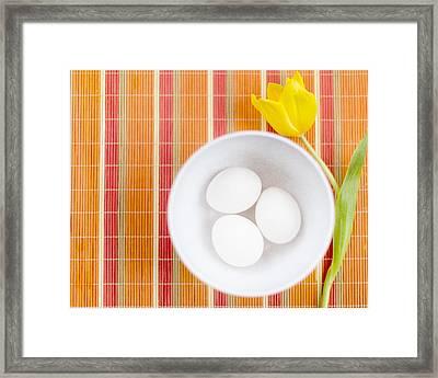 Eggs Framed Print by Rebecca Cozart