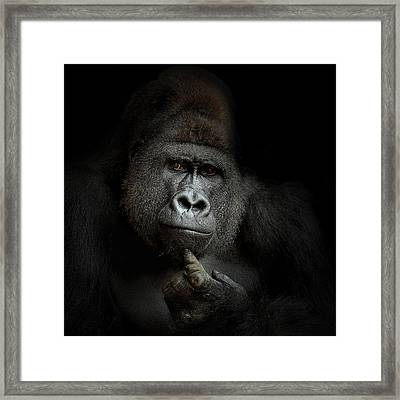 Ego Cogito, Ergo Sum Framed Print by Antje Wenner-braun