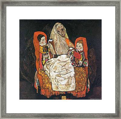 Egon Schiele Paintings Framed Print by Celestial Images