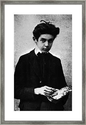 Egon Schiele Photograph Framed Print by Celestial Images