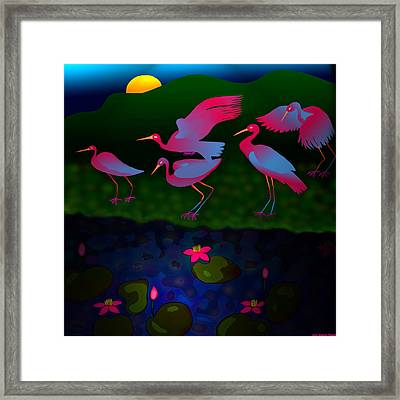 Egrets Framed Print by Latha Gokuldas Panicker