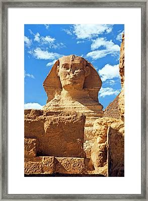 Egypt, Cairo, Giza, The Sphinx Framed Print by Miva Stock