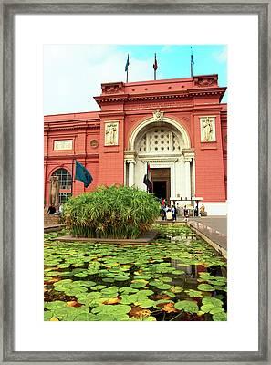 Egypt, Cairo, The Museum Of Egyptian Framed Print by Miva Stock