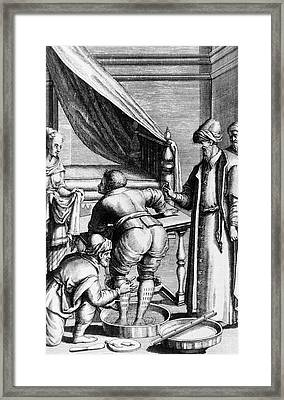 Egyptian Bloodletting Framed Print by National Library Of Medicine