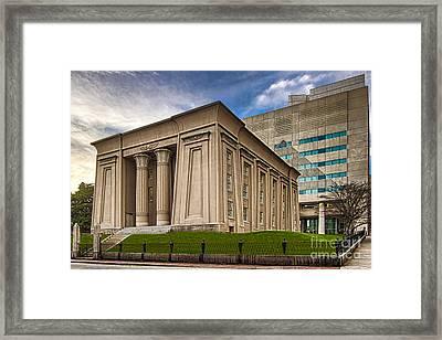 Egyptian Building Framed Print by Tim Wilson