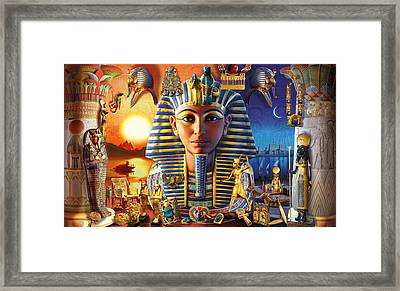 Egyptian Treasures II Framed Print by Andrew Farley