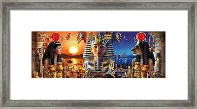 Egyptian Triptych 2 Framed Print by Andrew Farley