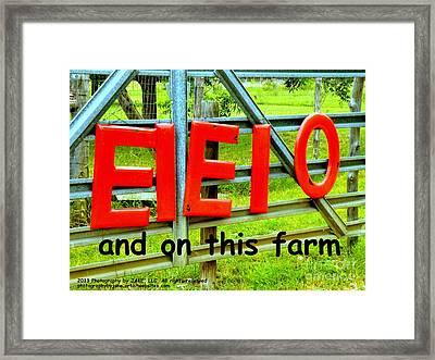 Ei Ei O Framed Print by Joe Jake Pratt
