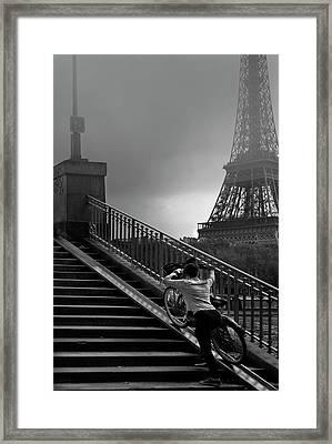 Eiffel Framed Print by Sol Marrades