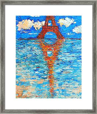 Eiffel Tower Abstract Impression Framed Print by Ana Maria Edulescu