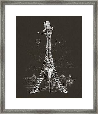 Eiffel Tower Framed Print by Aged Pixel