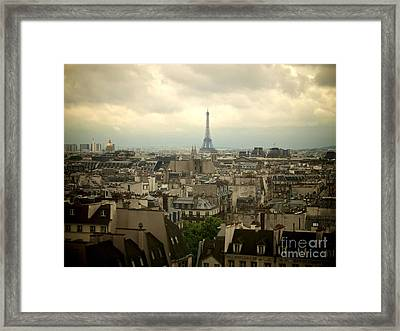 Eiffel Tower And Roofs Of Paris. France.europe. Framed Print by Bernard Jaubert