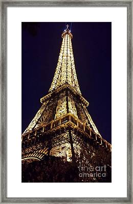 Eiffel Tower At Night Framed Print by Patricia Awapara