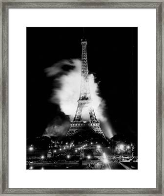 Eiffel Tower Beautiful At Night. Framed Print by Retro Images Archive