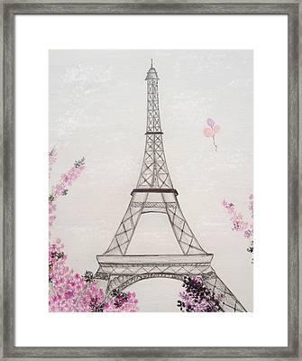 Eiffel Tower  Framed Print by Christine Corretti