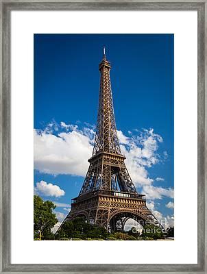 Eiffel Tower Framed Print by Inge Johnsson