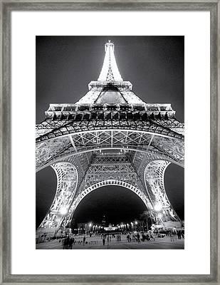 Eiffel Tower Framed Print by John Gusky