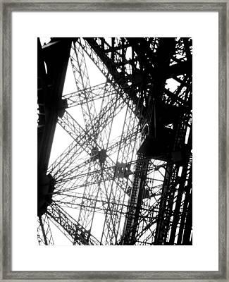 Eiffel Tower Lift Framed Print by Rita Haeussler