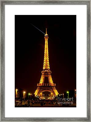 Eiffel Tower Night Framed Print by Olivier Le Queinec