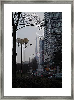 Eiffel Tower - Paris France - 01131 Framed Print by DC Photographer