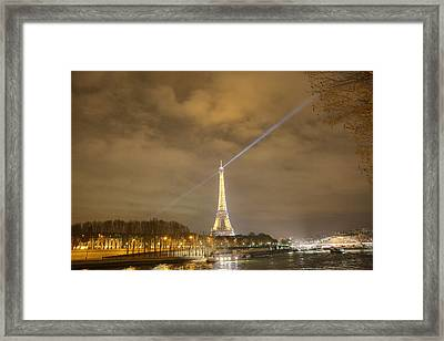 Eiffel Tower - Paris France - 011335 Framed Print by DC Photographer