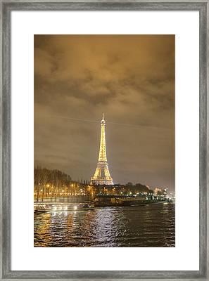 Eiffel Tower - Paris France - 011342 Framed Print by DC Photographer